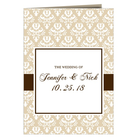 The Vintage Classic wedding program is a perfect match to the rest of the Vintage Classic wedding suite.