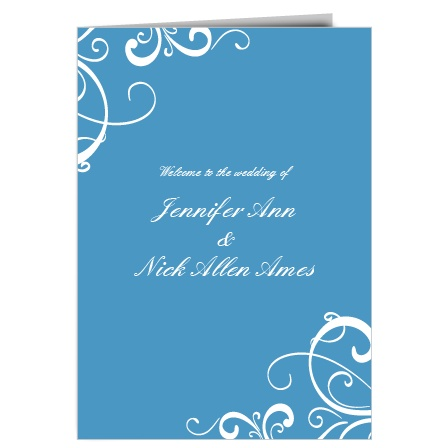 The Simple Swirls wedding program is a perfect match to the rest of the Simple Swirls wedding suite.