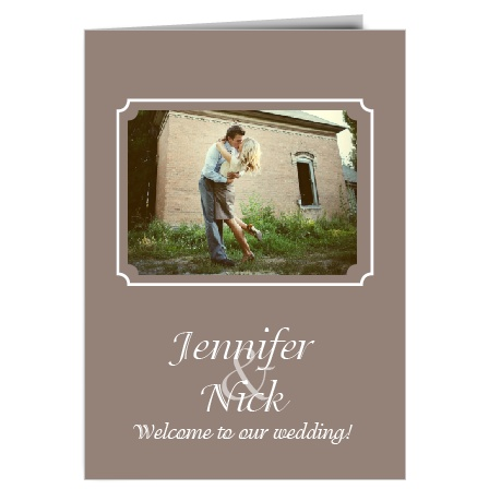 The Happy Couple wedding program is a perfect match to the rest of the Happy Couple wedding suite.
