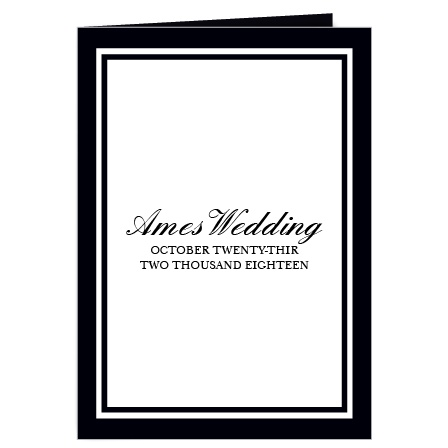 The Classic wedding program is a perfect match to the rest of the Classic wedding suite.