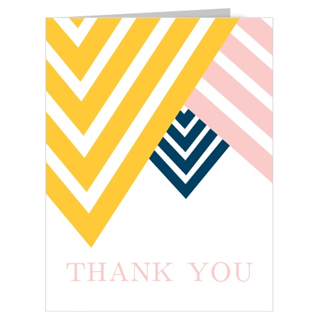 Show your gratitude with The Overlapping Arrows Thank You card which has a very modern and trendy design that is fully customizable.