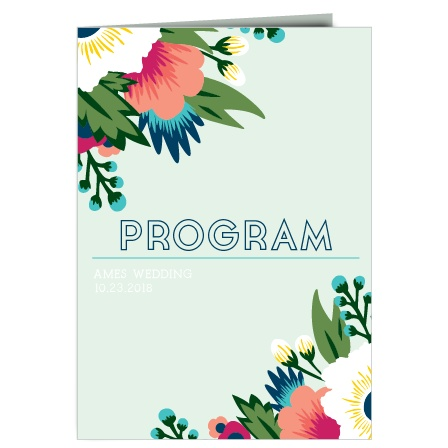 The Tropical Flower wedding program is a perfect match to the rest of The Tropical Flower wedding suite.