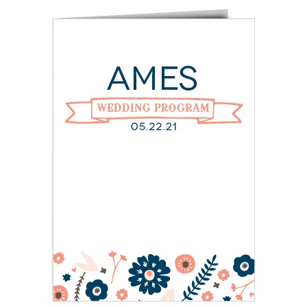 The Ribbons and Flowers wedding program is a perfect match to the rest of the Ribbons and Flowers wedding suite.
