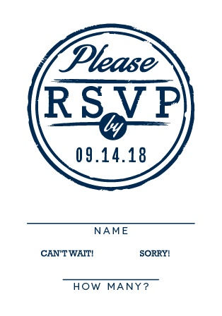 Obtain your guests' attendance by sending out this matching response card. Customize the colors and fonts to match your wedding theme exactly!