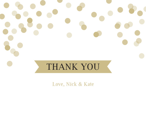 Show your gratitude with the Glamorous Confetti Thank You card.