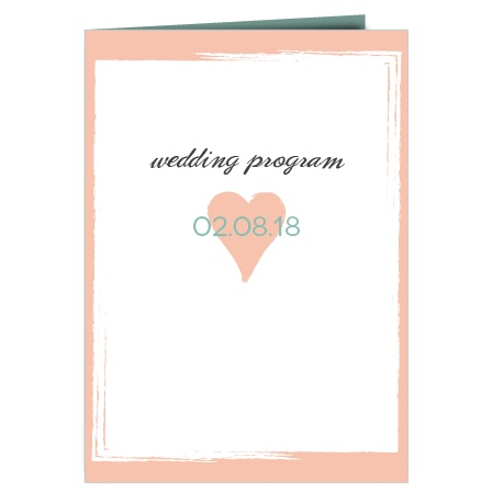 The Photo Heart wedding program is a perfect match to the rest of the Photo Heart wedding suite.