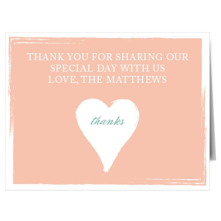 Show your gratitude with the Photo Heart Thank You card. With this textured heart design card, you are able to customize all the colors and fonts perfectly to your liking!