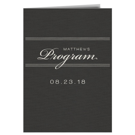 The Simple Elegant wedding program is a perfect match to the rest of The Simple Elegant wedding suite.