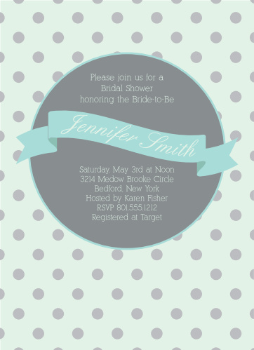 Polka dot bridal shower invitations match your color style free polka dot bridal shower invitations filmwisefo