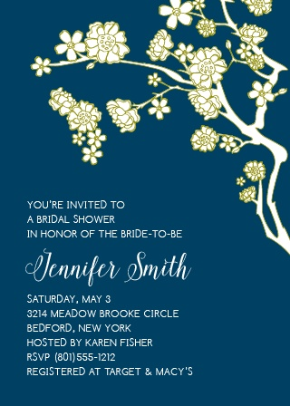 Customize this Floral Bridal Shower Invitation with all your favorite colors and even change the font to your liking!