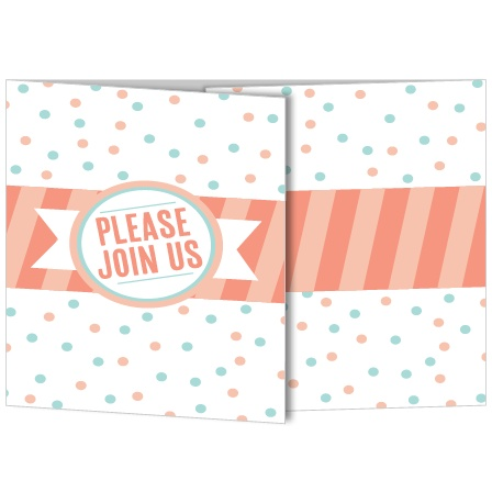Stand out from all the rest with this 6 panel mini-gate Baby Shower invite! Customize this card with your favorite colors and add all the details for the shower!
