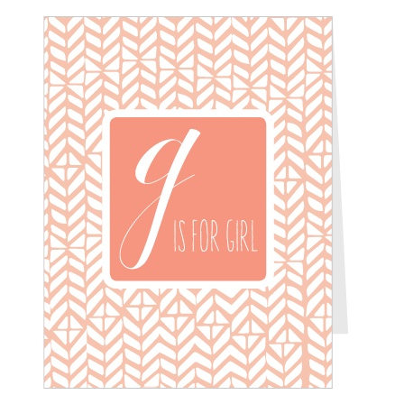 The G Is For Girl Mini Fold gives your 4 panels to show off your new bundle of joy! It also provides you plenty of room to include any information you wish!