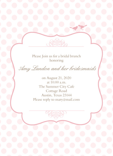 Polka dot bridal shower invitations match your color style free brunch polka dot bridal shower invitations filmwisefo
