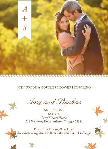 Customize this Fall Fun Bridal Shower Invitation with all your favorite colors and even change the font to your liking!