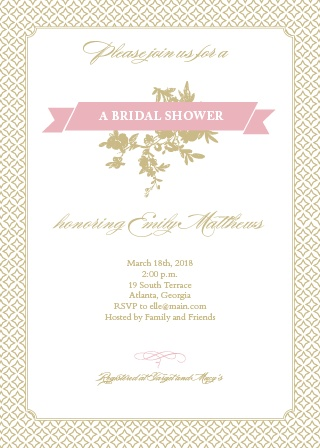 Get your guests excited for a shower full of class and good times! A bridal brunch is the perfect way to get people excited for the big day!