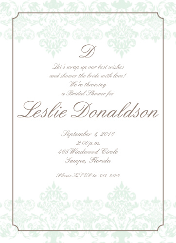 Sophisticated Bride Bridal Shower Invitations