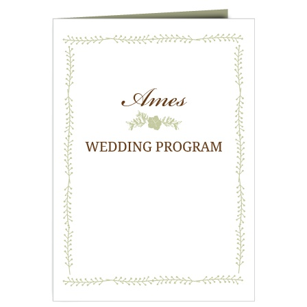 wedding day wedding size program