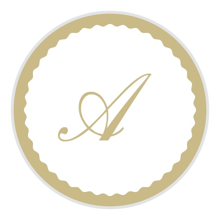 The Shining Bright logo square is the finishing touch to an already beautiful invitation suite.