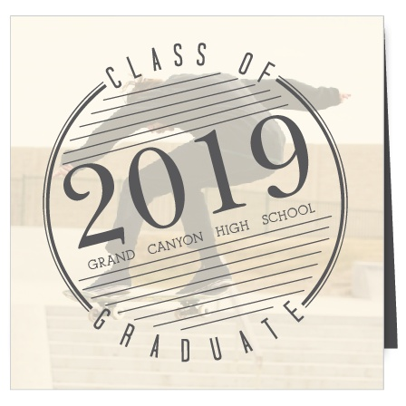 Show off your personality with this four panel, square format Graduation Announcement. This card has a modern, sleek design and plenty of room to include your most radical senior pics!
