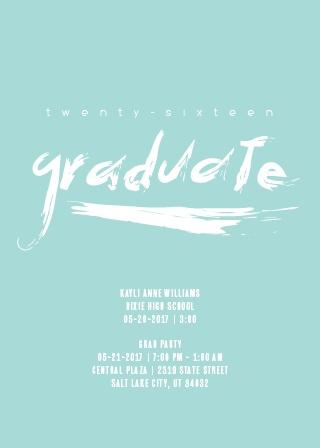 Paint Brush Lettering Graduation Announcement