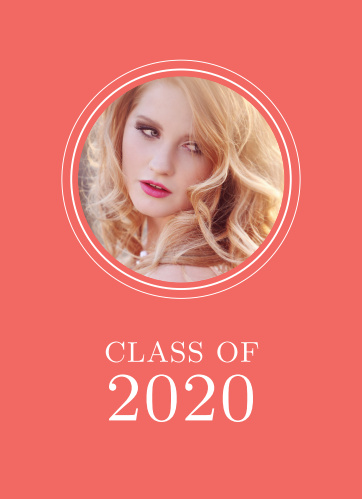 Customize this simple, yet beautiful graduation announcement that doubles as a graduation invitation! Customize colors fonts and more and upload your favorite photos!