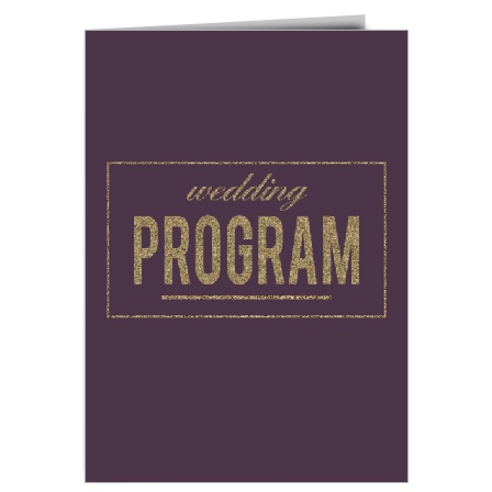 The Golden Rings Wedding Programs are a perfect match to the rest of The Golden Rings wedding suite.