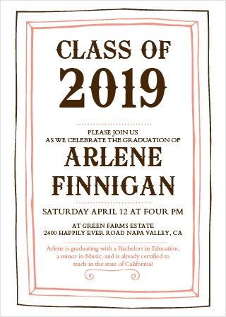 Framed Graduation Party Invitations