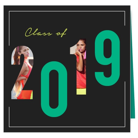 Send out a radical grad card! With the four panel square format, you have plenty of room for pictures, grad details and party announcement! Customize the colors and fonts to your liking. And see your changes instantly!
