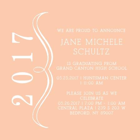 Bracket Graduation Announcement