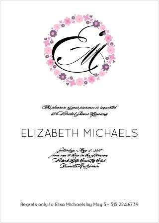 Bridal shower invitations wedding shower invitations basicinvite flower wreath bridal shower invitation filmwisefo