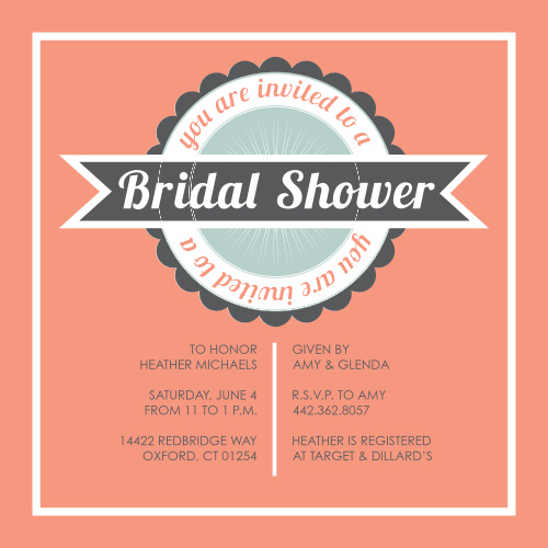 Bridal shower invitations wedding shower invitations basicinvite retro elegance bridal shower invitations filmwisefo