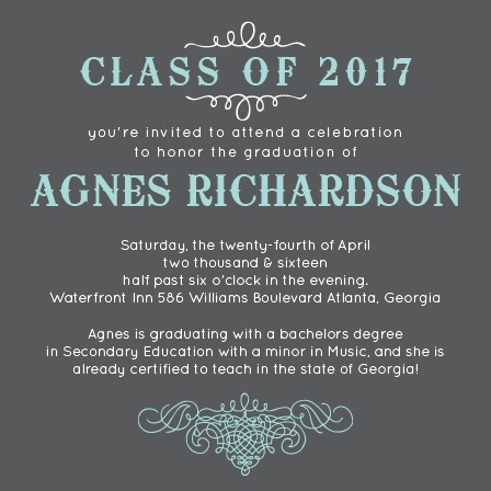 Scrolls Graduation Announcement
