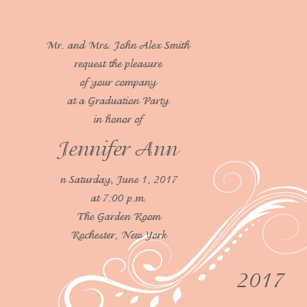 High Class Graduation Announcement