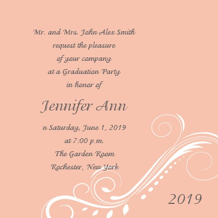 The High Class Graduation Announcement with is simple, yet elegant way to let everyone know of your accomplishment.  Personalizing the High Class is easy with instant previews and over 150 different colors to chose from.