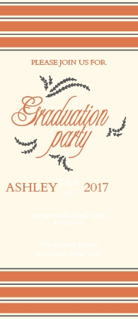 My, my! How time has flown! This card works for both an announcement and an invitation for your unforgettable graduation party! Customize the fonts and colors to make this card exactly how you've imagined. See your changes as you go and have some fun!