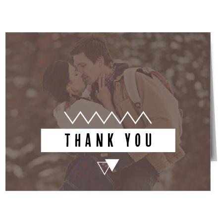 Express your gratitude with this geometric photo Thank You card. Customize all the colors and fonts perfectly to your liking!