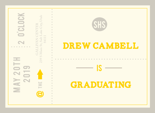 Stand out with this one of a kind Grad Announcement. Customize the colors and fonts to fit your personality! Enter your graduation day details as well as the after party celebration!