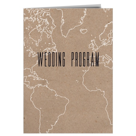 The Adventure Begins Map wedding program is a perfect match to the rest of The Adventure Begins Map wedding suite.