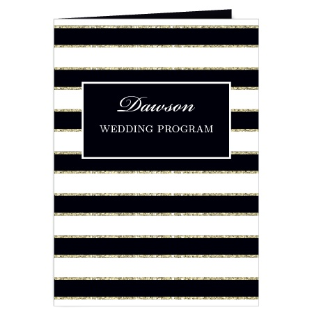 The Elegant Gold Stripes wedding program is a perfect match to the rest of the The Elegant Gold Stripes wedding suite.