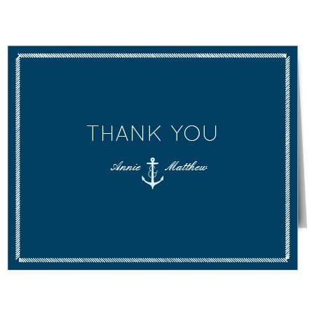 Show your gratitude with the Nautical Anchor Thank You card. Customize all the colors and fonts perfectly to your liking!