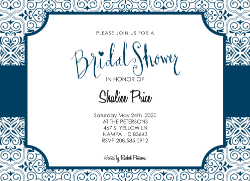 Stay classy with the Ticket Benefit Bridal Shower invitation. Change the colors, fonts and even the pattern, in order to make this invite stand out among all the rest!