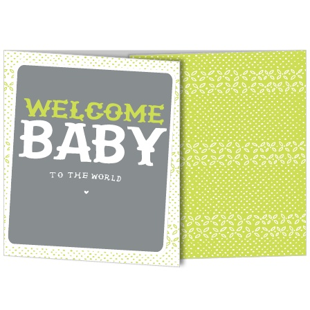 The New To The World mini gate birth announcements offer a unique and fun way to show off the latest member of your family.