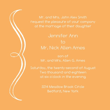 Simple Scroll Wedding Invitations