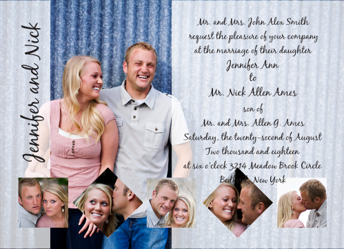 The Opaque Photo Flair is a great new take on the wedding invitation of your dreams.