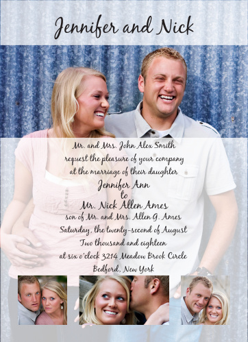 The Opaque Photo Flair Portrait is a great new take on the wedding invitation of your dreams.