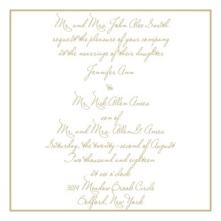 Simple Square Wedding Invitations