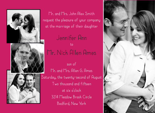 The Cutest Couple is flirty and bold when it comes to the traditional wedding invitation.