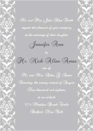 The Damask Sides offers gorgeous and elegant scrolling designs with a solidly centered background.