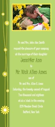 Falling Daisies Wedding Invitations