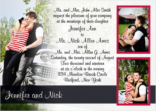 A follow-up to one of our most popular wedding invitations The Colorful Band.